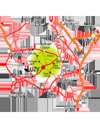 Carte détaillée du Sud-Morvan